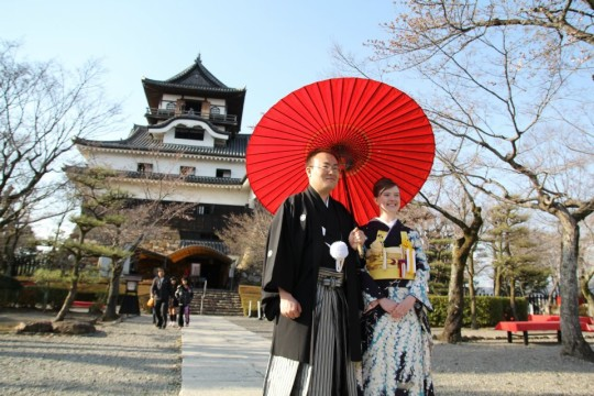 Their beautiful wedding in Japan