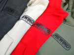detail of Rewind sweatshirts